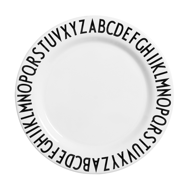 Design Letters Melamine Alphabet Dinner Plate - Nursery Edit