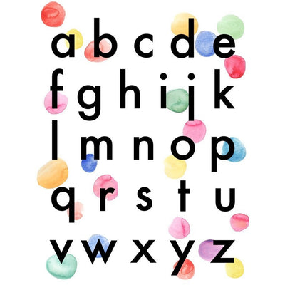 Wonder & Rah Confetti Alphabet Print A3 - Nursery Edit