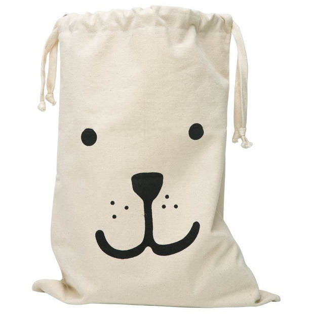 Tellkiddo - Large Fabric Storage Bag - Bear - Nursery Edit