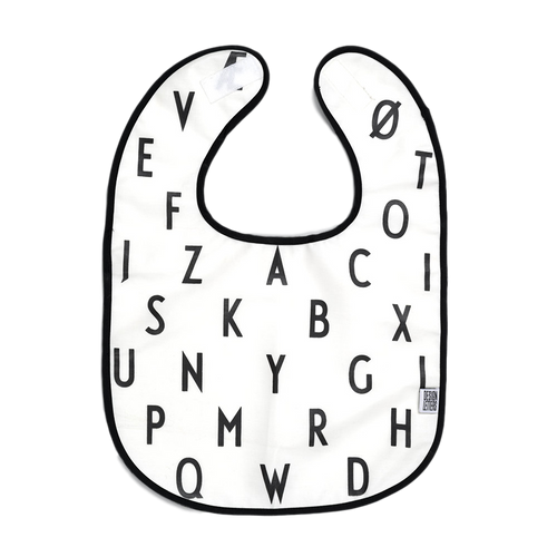 alphabet bib - white