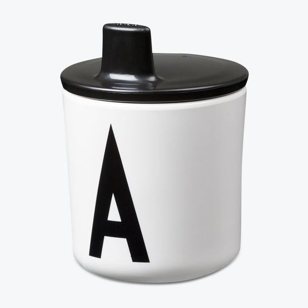 Design Letters Black Drink Lid - To Fit Alphabet Cup - Nursery Edit