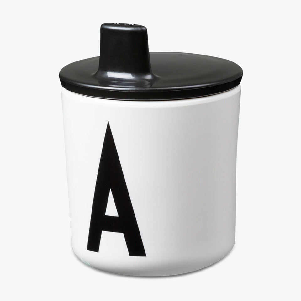 Design Letters Black Drink Lid - To Fit Alphabet Cup