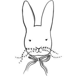 Wonder & Rah Monochrome Bunny Print - A4/A3 - Nursery Edit