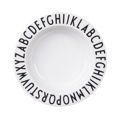 Design Letters Melamine Alphabet Deep Plate - Nursery Edit