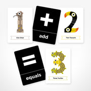 The Jam Tart Animal Number Flash Cards - Nursery Edit