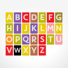 Load image into Gallery viewer, The Jam Tart Alphabet Christmas A-Z Flash cards - Nursery Edit