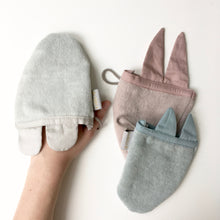 Load image into Gallery viewer, Fabelab Animal Bath Mitt - Bunny - Nursery Edit