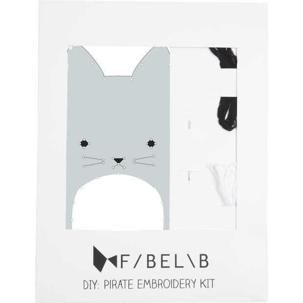 Fabelab Embroidery Kit Cat - Nursery Edit