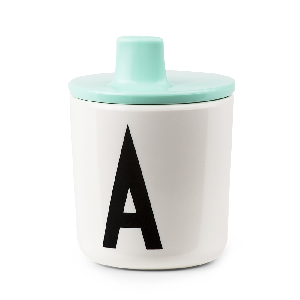 Design Letters Mint Drink Lid - To Fit Alphabet Cup - Nursery Edit