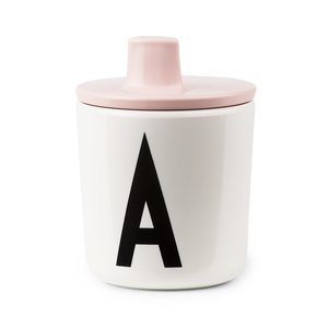 Design Letters Pink Drink Lid - To Fit Alphabet Cup - Nursery Edit