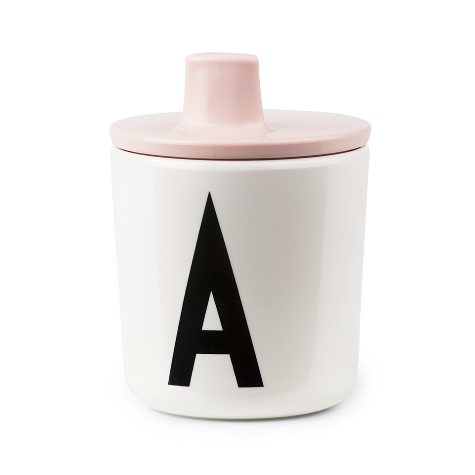 Design Letters Pink Drink Lid - To Fit Alphabet Cup