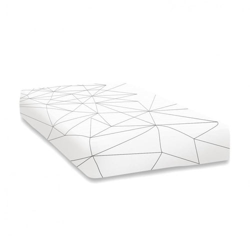 Ooh Noo Fitted Baby Cot Sheet - Geometric Web - Nursery Edit