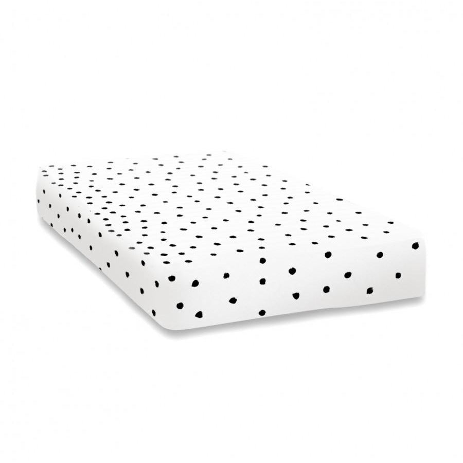 Ooh Noo Fitted Baby Cot Sheet - Ladybird