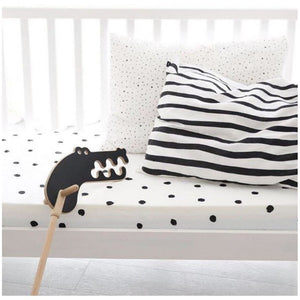 Ooh Noo Fitted Toddler Cot Bed Sheet - Ladybird - Nursery Edit