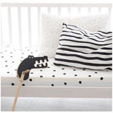 Ooh Noo Fitted Toddler Cot Bed Sheet - Ladybird