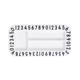 Melamine Number Counting Rectangular Snackplate