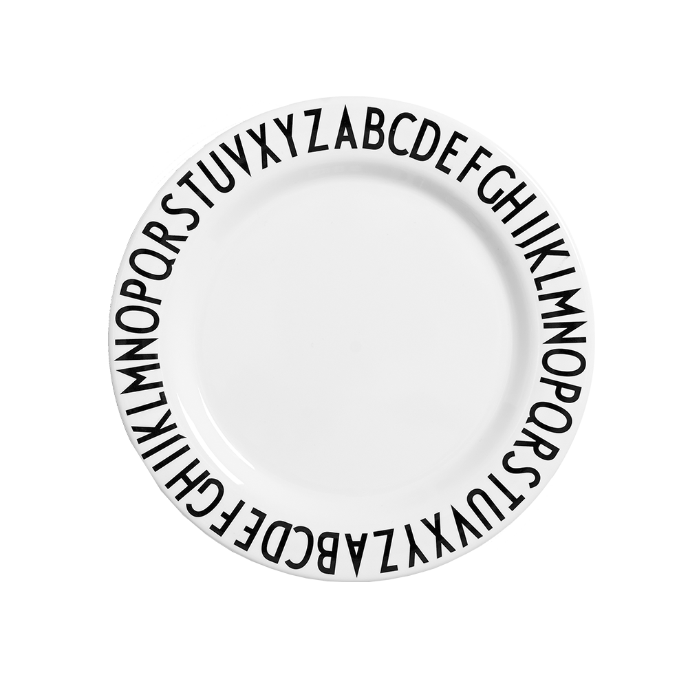 Design Letters Melamine Alphabet Plate - Nursery Edit