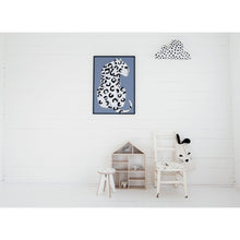 Load image into Gallery viewer, Wonder & Rah Blue Leopard Print A4/A3 - Nursery Edit