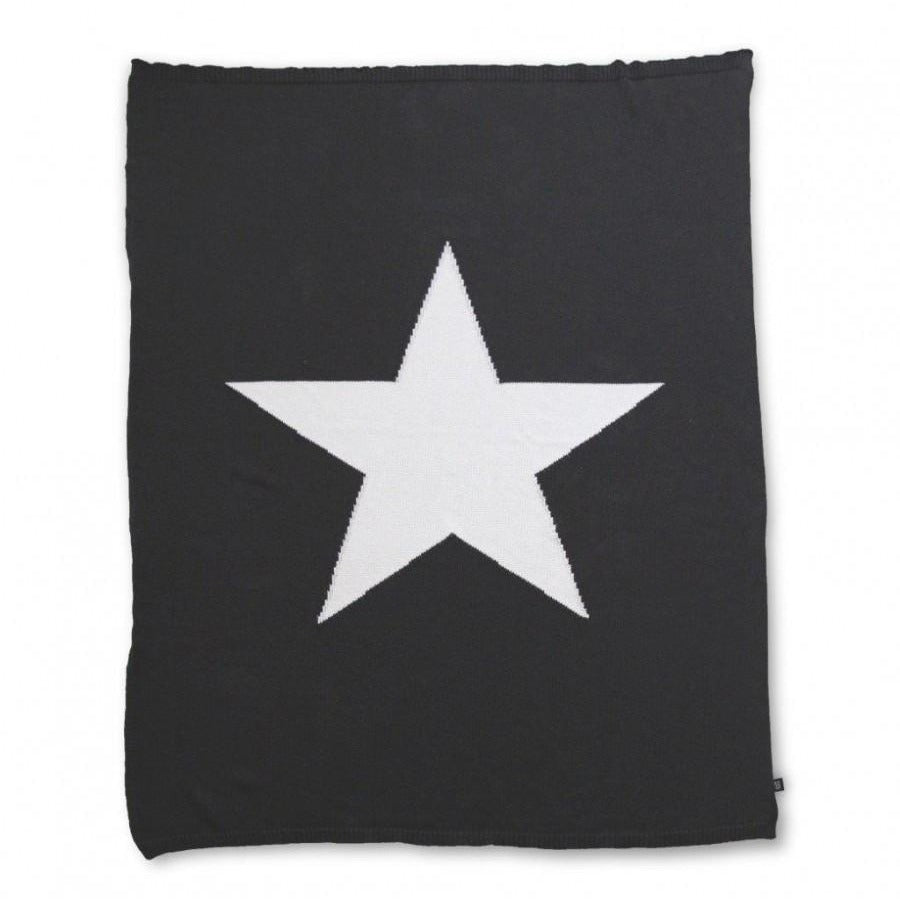 Ooh Noo Star Blanket Throw - Black
