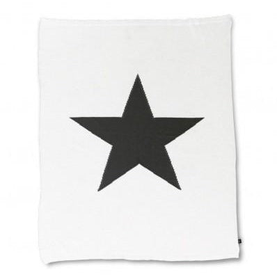 Ooh Noo Star Blanket Throw - White
