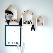 Load image into Gallery viewer, Wooden House Shelves - Nursery Edit