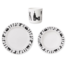 Load image into Gallery viewer, Design Letters Melamine Tools Tableware Set - Nursery Edit
