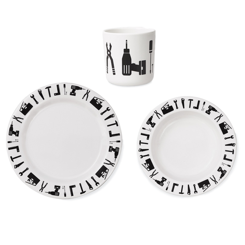Design Letters Melamine Tools Tableware Set - Nursery Edit
