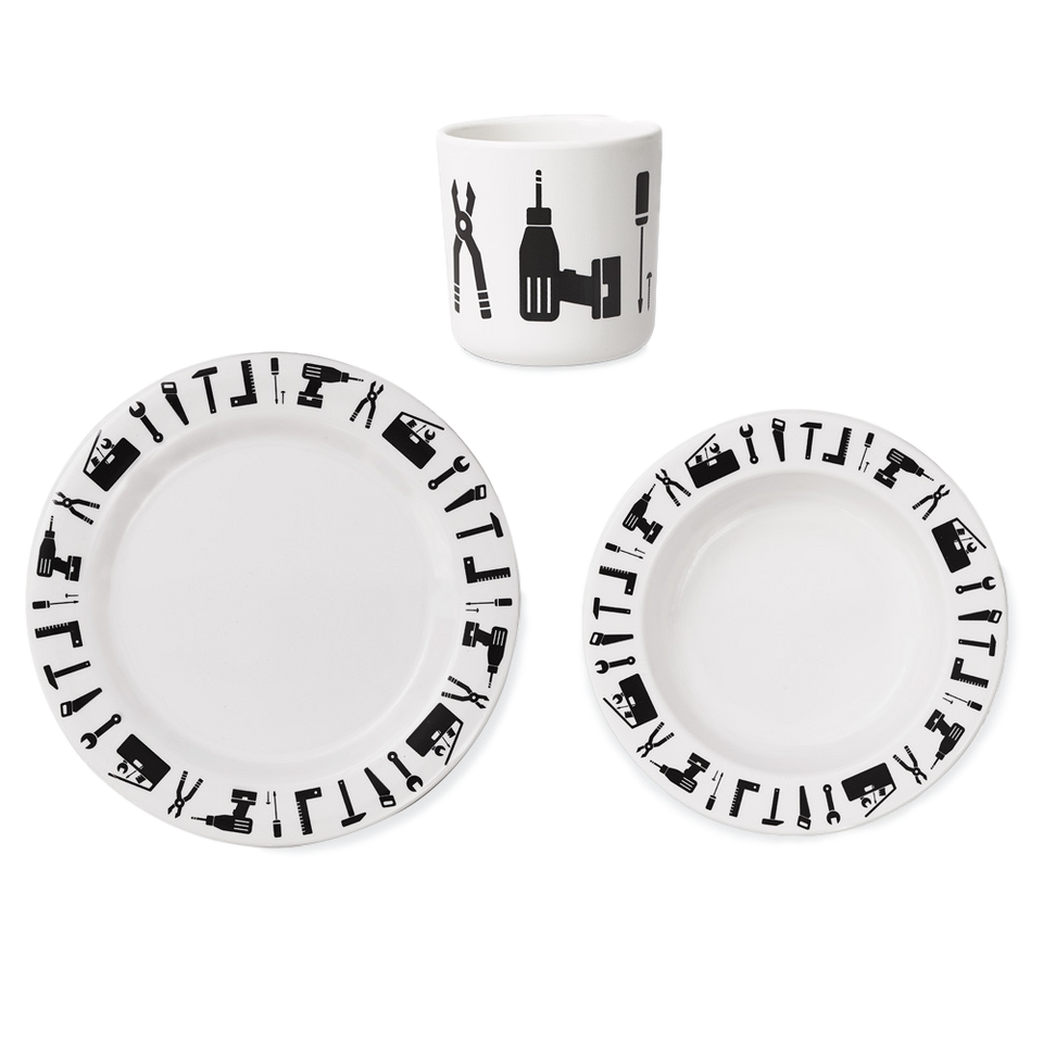 Design Letters Melamine Tools Tableware Set