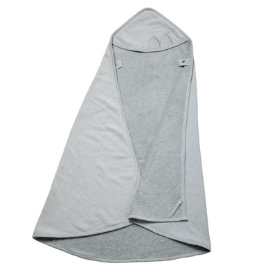 Fabelab Hooded Towel Cape Cat - Foggy Blue - Nursery Edit