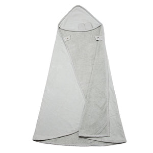 Fabelab Hooded Towel Cape Bear - Icey Grey - Nursery Edit
