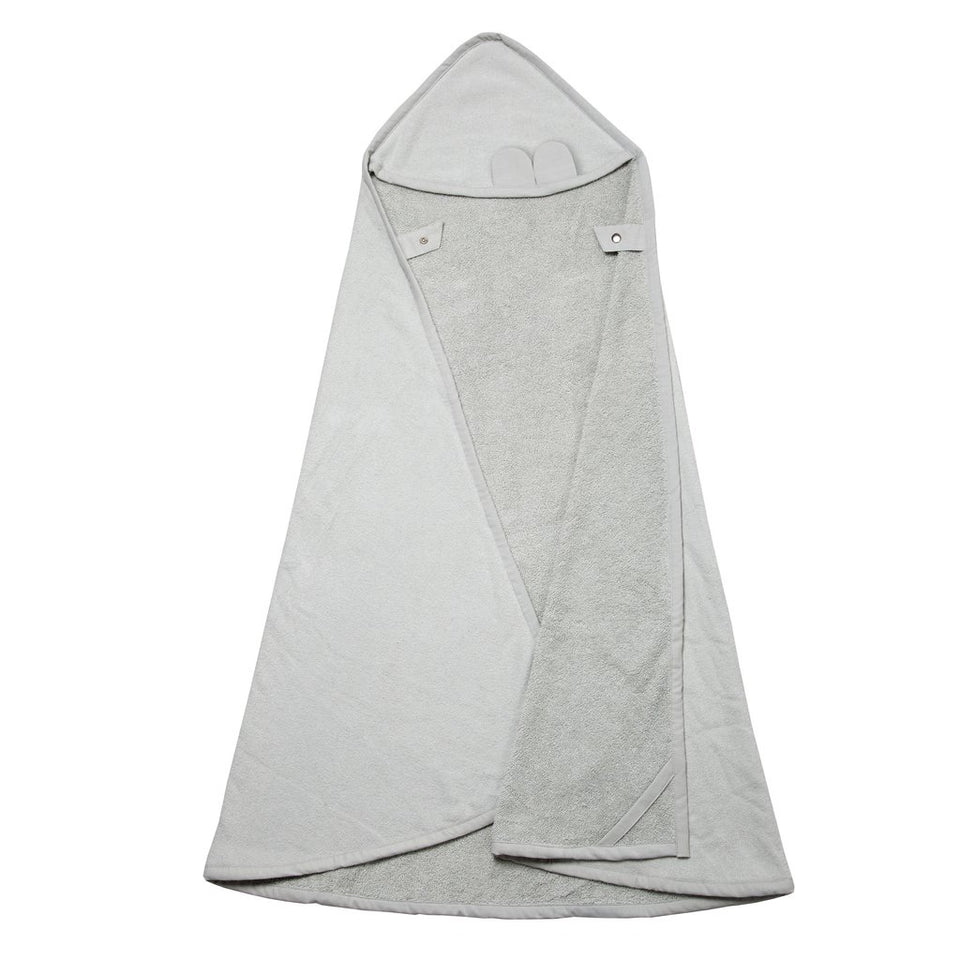 Fabelab Hooded Towel Cape Bear - Icey Grey