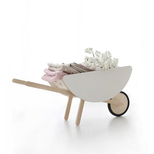 Ooh Noo Wooden Wheelbarrow - White - Nursery Edit