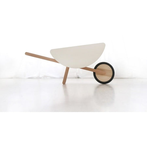 Ooh Noo Wooden Wheelbarrow - White