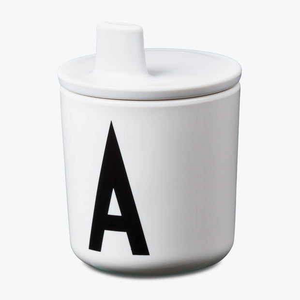 Design Letters White Drink Lid - To Fit Alphabet Cup - Nursery Edit