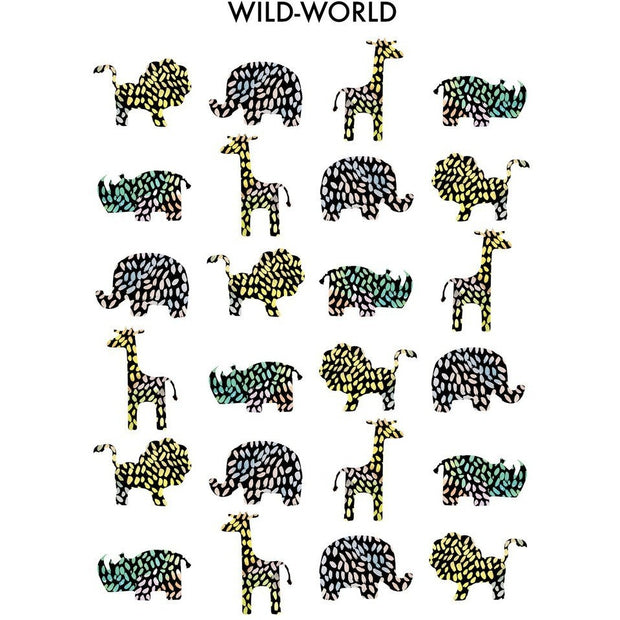 Wonder & Rah Wild-World Animal Print A3 - Nursery Edit
