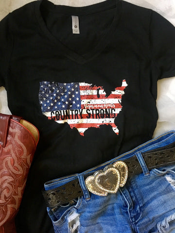 Country Strong | Women's V-Neck Tee