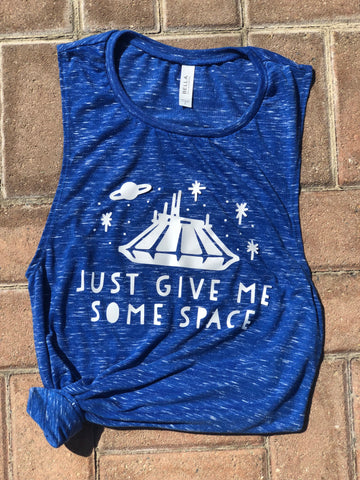 Give Me Some Space Disneyworld Disneyland Space Mountain Women's Muscle Tank