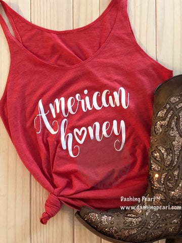 american honey country music women's tank top shirt