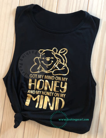 Honey On My Mind Pooh Bear Women's Tank
