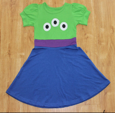 Toy Story Little Green Men Girls Costume Dress