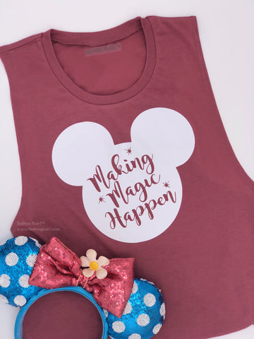 Mickey Mouse Making Magic Happen Women's Tank