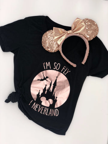 """I'm So Fly I Neverland"" Women's V-neck Tee"