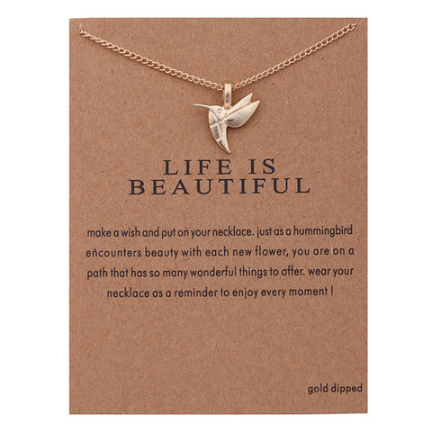 """Life Is Beautiful"" Necklace"