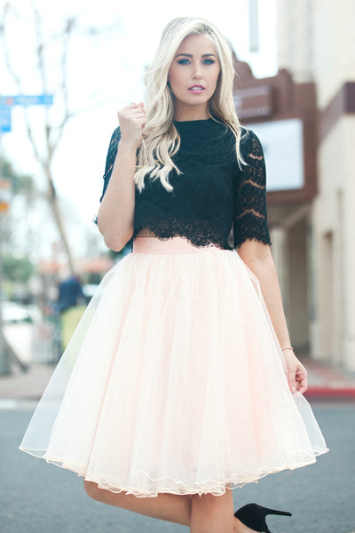 Serendipity Blush Tulle Skirt