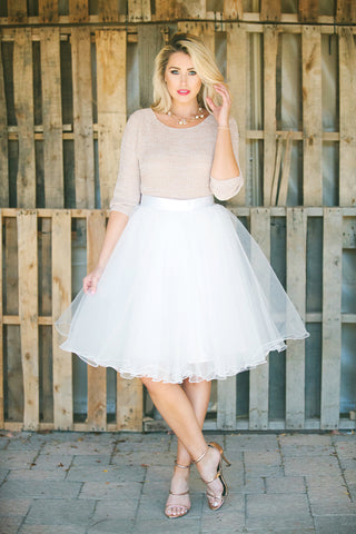 Serendipity White Tulle Skirt