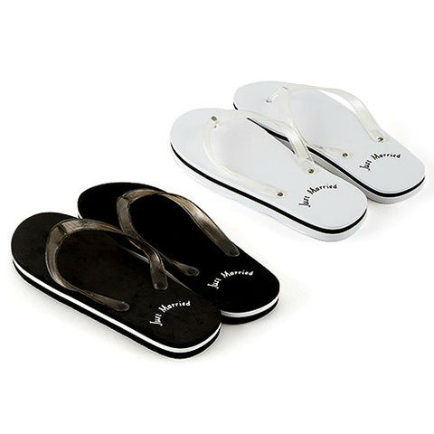 Black Or White Just Married Sandals