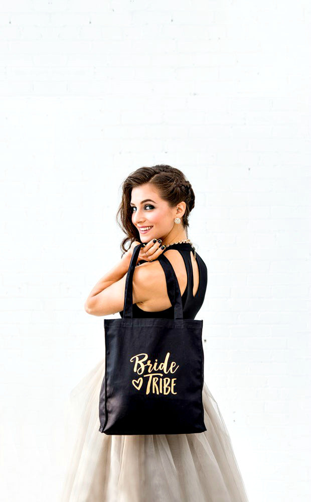Bride Tribe Black Tote Bag