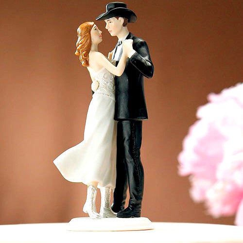 Cowboy Couple Country Western Cake Topper