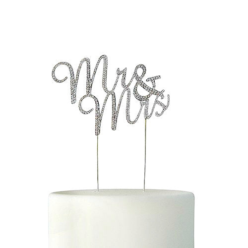 Crystal Rhinestone Mr & Mrs Cake Topper