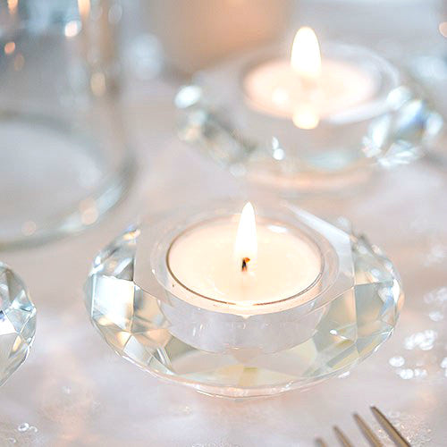 Crystal Tealight Holders – Set of 6